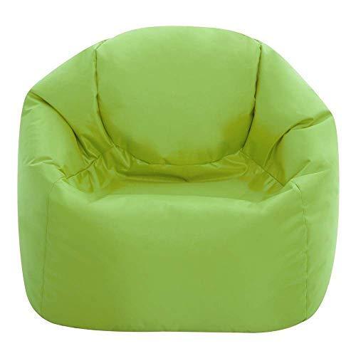 Bean Bag Bazaar Kids Hi-Rest Chair, Lime Green, 53cm x 50cm, Indoor Outdoor Bean Bags for Children, Bedroom, Living Room, Garden Bean Bags