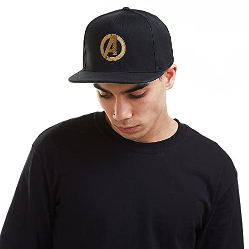 Marvel Herren Avengers Logo Baseball Cap, Schwarz (Black Blk), One Size