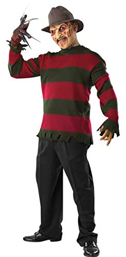Rubie's Men's Nightmare On Elm St Deluxe Freddy Sweater with Mask, Multicolor, X-Large