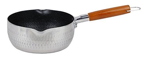 パール金属雪平鍋18cmガス火専用アルミ内面4層マーブル加工マーブルミラーH-6451