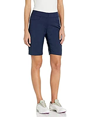 """PGA TOUR Women's Motionflux 19"""" Tech Shorts with Comfort Stretch, Peacoat, 6"""