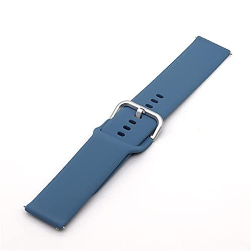 WWXFCA Correa de silicona de 22 mm y 20 mm para Samsung Galaxy Watch Active 2 40/44 mm Gear S2 Huami Amazfit bip pulsera deportiva Huawei (Color de la correa: S16, tamaño: 20 mm)