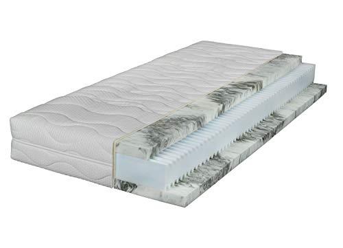 Gel-Hybridmatratze - Komfortschaumkern - 90 x 200 cm