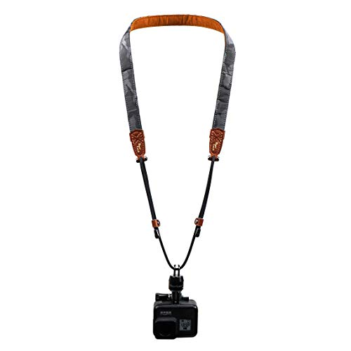 RapiLock Leash Quick Release Neck Strap (Black) for GoPro Hero 9 8 7 6 5 4 3+ 3 2 1 Mounting Way Devices Such as Sony/Gamin/SJ4000/DJI/osmo Pocket. Includes 1 Adapter, 1 Buckle (Black), and 1 Strap.