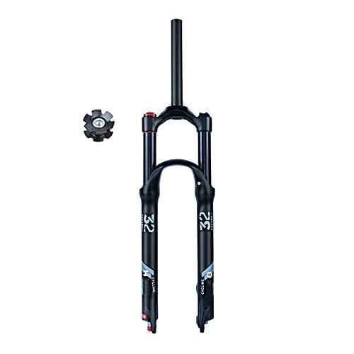 VPPV Horquillas MTB Aleación Magnesio 26/27,5/29 Pulgadas Amortiguador Ultraligero Horquillas Delanteras Bicicleta con Ajuste Rebote 140 mm (Color : Straight Tube A, Size : 27.5 Inch 120mm)