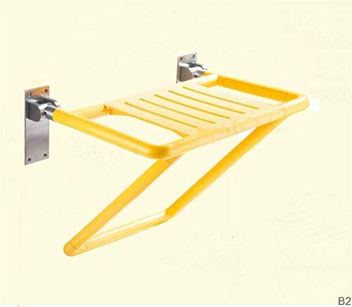 Home Wall Shower Seat Bathing Chair Shower Stable Antiskid Folding Stool Barrier Free 0210