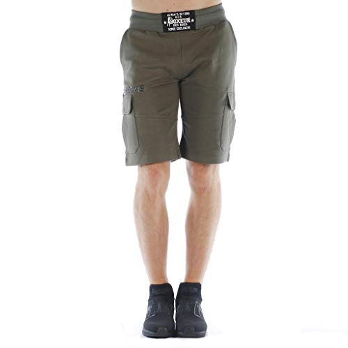 ARSUXEO Pantalones Cortos de Ciclismo para Hombre con Bolsillos con Cremallera Sueltos Transpirables Impermeables Parte Inferior 1806