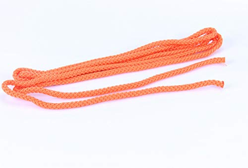 trendmarkt24 Springseil orange Hüpfseil 3m lang Ø 0,8 cm breit Sport-Seil geflochten für Fitness Spring Übungen ohne Griffe Indoor Seilspringen für Kinder ab +3 Jahre | 8578364703-A