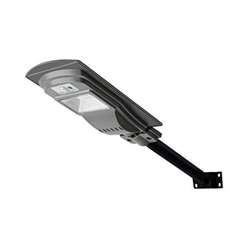 Lampione stradale solare da 30W con sensore di movimento, luce di sicurezza bianca fredda da 300 lumen per esterni, applique da parete impermeabile IP65