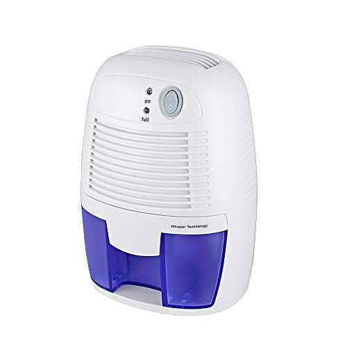 Electric Home Mini Air Dehumidifier, 1200 Cubic Feet (150 sq ft), Compact and Portable for Damp Air, Mold, Moisture in Home, Kitchen, Bedroom, Basement, Caravan, Office, Garage