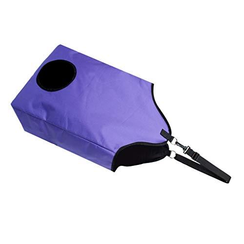 Colgando Bolsa de Heno Haylage de Alimentación de Caballos Organizador Plegablede Comida Lenta - Púrpura