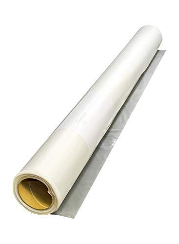 Baufolie transparent 50 µ 2 x 50 m = 100 m² Folie Abdeckfolie Malerfolie Plane Abdeckplane Schutzfolie 50 my 0,05 mm