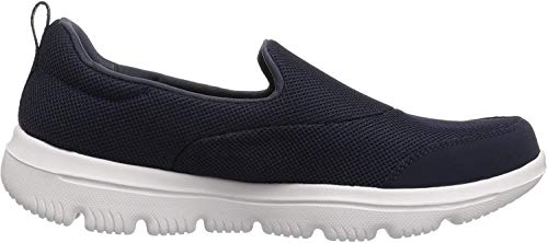 Skechers Damen Go Walk Evolution Ultra-reach Slip On Sneaker, Marineblau Weiß, 37 EU