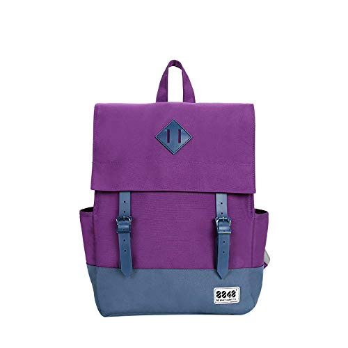 Haodong Lässiger Damenrucksack Schultasche Damenrucksack 15,6 Zoll Laptop 14,2 L Wasserdichter Oxford-Rucksack Mochila-038_m