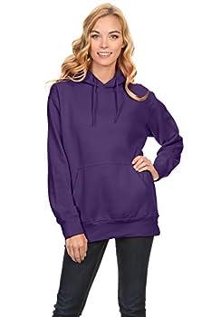 Simlu Fleece Pullover Hoodies Oversized Sweater Reg and Plus Size Sweatshirts Purple Medium