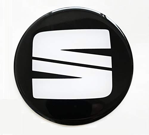 LogoEmbl Aufkleber 4 x 60 mm embleme kompatibel mit Seat radkappen nabenkappen nabendeckel Silikon