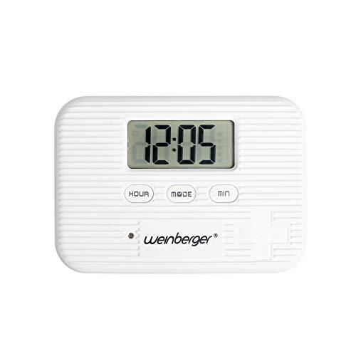 Weinberger Tablettenbox, Pillenbox, Medikamentendosierer mit Vibrationsalarm und mit Alarmfunktion weiß/digital/Sehr leicht/Modell: 02263