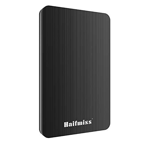Disco Duro Externo 320GB - 2.5' USB 3.0 Ultrafino Diseño Metálico HDD Portátil para Mac, PC, Laptop, Ordenador, Xbox One, PS4, Smart TV, Chromebook - Negro