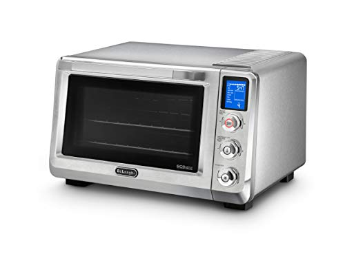 De'Longhi Livenza Oven, 1800W Countertop Convection Toaster Oven, 8 Presets Roast, Broil, Bake, Grill, Defrost, Easy to Use and Clean, 24L (.8 cu ft), Stainless Steel, EO241250M