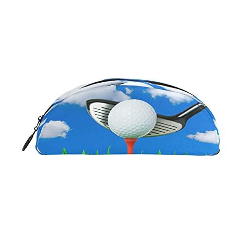 Estuche para lápices de golf con cremallera, bolsa de maquillaje, para niñas, niños, adolescentes, adultos, escuela, estudiantes, suministros de oficina