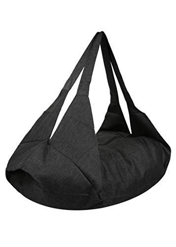 likemary Damen Schultertasche & Rucksack - Öko Baumwolle - 2-in-1 Multifunktionstasche - Geeignet für den täglichen Gebrauch, Strand, Fitnessstudio, Handgepäck, Reisen - Passender Beutel als BONUS
