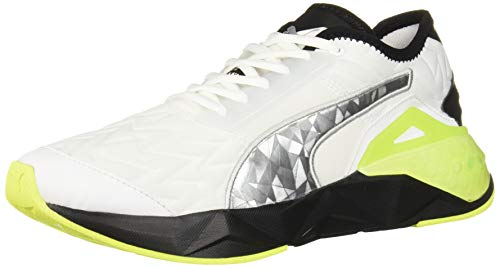 PUMA Women's Cell Plasmic Cross Trainer, White Black-Yellow Alert, 10 M US