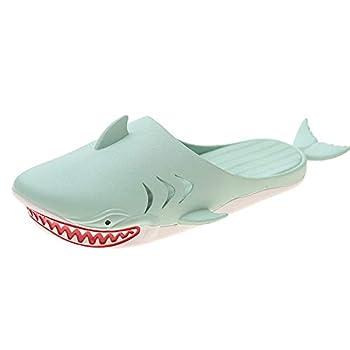 Shark slippers Comfortable home outdoor slippers For Men Women Unisex Shark slippers Fish Shoes Cartoon sandals Funny Slipper  Green numeric_9