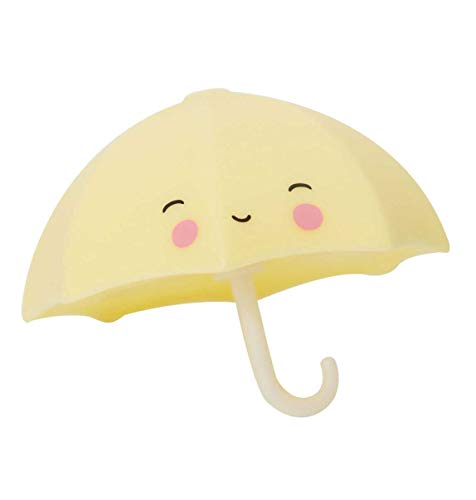 A Little Lovely Company  Bath toy Umbrella BTUMYL02, Juguete de baño en forma de paraguas, 9 x 7 x 9 cm