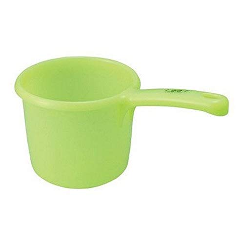 Japanese Plastic Water Ladle Bath Ladle Leaf Series Made in Japan, Green (1)