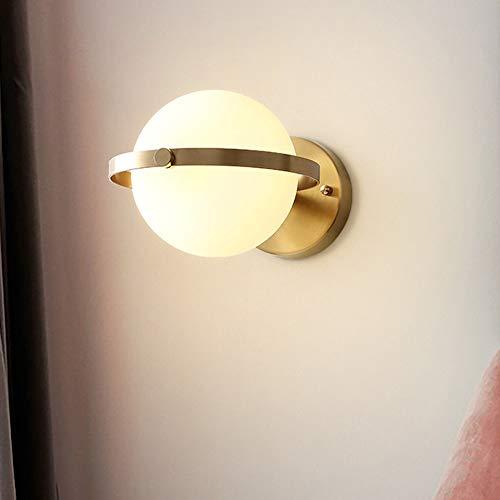 De enige goede kwaliteit Decoratie Nordic Koper Goud Wandlamp Moderne Minimalistische Slaapkamer nachtlampje Eetkamer Woonkamer Corridor Aisle Trap Balkon Wandlamp Glas Lampenkap 18.5x15cm