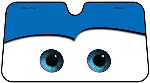 DDD1234 Parabrisas Sun Shade Cartoon, Big Eyes Pixar Cars Lightning Front Car Windshield 4 Colores 130CMx70CM (Azul)