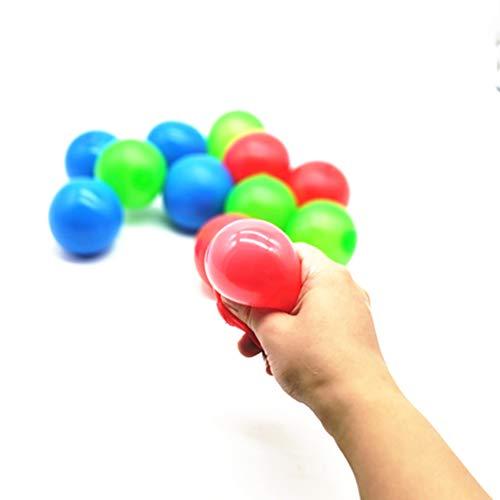 Eviktory Sticky Globbles Ball Stress Spielzeug, Sticky Wall Balls Dekompressionsspielzeug, Stress Relief Balls Spielzeug für Stressabbau und besseren Fokus, Erwachsene Kinder (4 Stück)