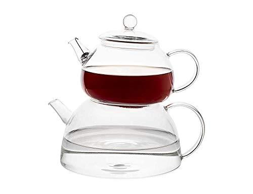 TantiToni Türkische Teekanne aus Borosilikatglas Glaskanne 810ml 1.350ml