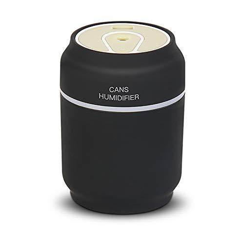 LGF Helmet Buntes Atmungslicht Auto Aroma humidifier4H Timing Mini Cooper 200ML Kapazität Luftbefeuchter für Office Home Schlafzimmer USB-Aufladung,Black