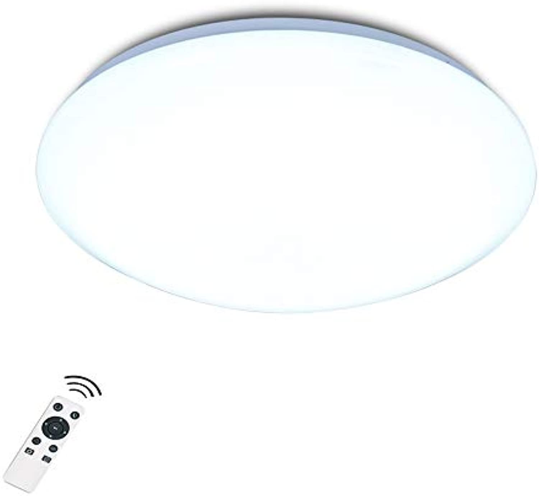TZZ LED Deckenleuchten Dimmbare Fernbedienung Küchenleuchte Runde Einbauleuchte, für Küche Kinder Schlafzimmer Wohnzimmer Bad Super Hell (Farbe   Stepless dimming, gre   40 cm)