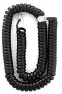 RCA-4Line-Phone-Black-12Foot-Handset-Cord - 19 inches Long / 12 Foot When Stretched