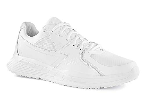 Shoes for Crews 29166-45/10 CONDOR Rutschhemmende Turnschuhe, Größe 45 EU, Weiß