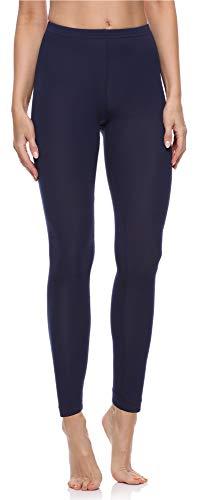 Merry Style Damen Lange Leggings aus Baumwolle MS10-198 (Dunkelblau, L)