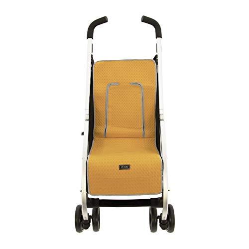 Colchoneta o funda de Paseo para silla Ligera Rosy Fuentes en color amarillo