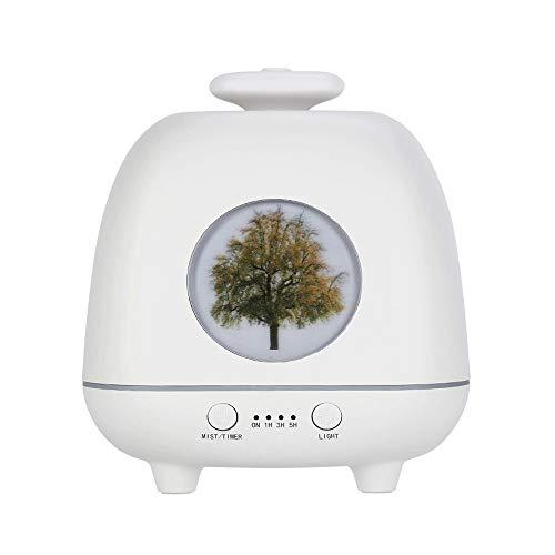 SMX Home desktop Mute Night Light Aromatherapie luchtbevochtiger, Decompressie Sleep Aid, Regular Waterless Automatic Power Off (230ml) (Color : White)
