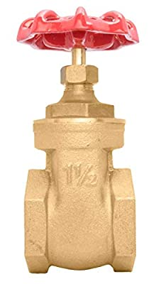 "1-1/2"" Brass Gate Valve - 200WOG, FxF NPT from DuraChoice"
