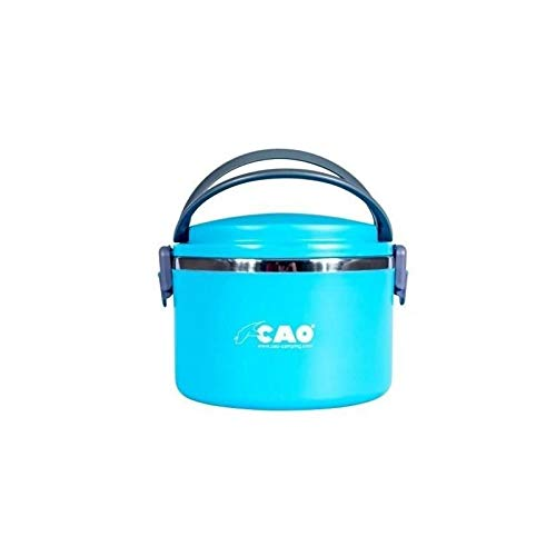 CAO 6956 - Fiambrera isotérmica Redonda, 1 L, Unisex, 12,3 x 15 cm, 1 litro, Color Azul