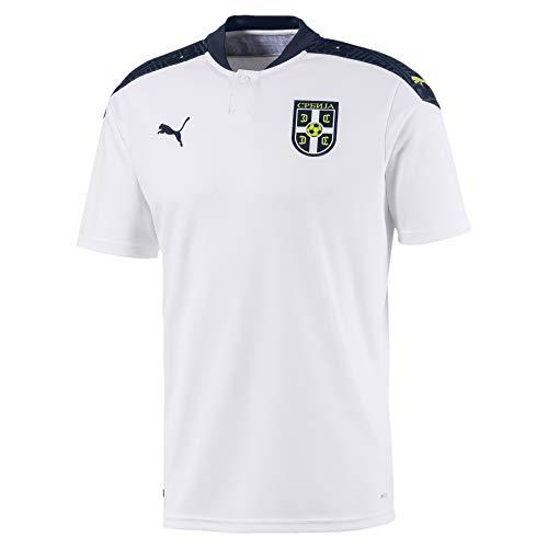 PUMA Fss Away Shirt Replica Camiseta, Hombre, Puma White-Peacoat, S