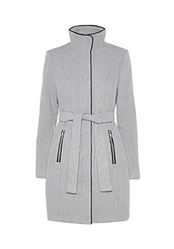 VERO MODA Damen Mantel VMBESSY Class 3/4 Wool Jacket NOOS, Grau (Light Grey Melange), 36 (Herstellergröße: S)