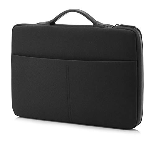 HP - PC Envy Urban Sleeve per Notebook fino a 15.6', Vano Imbottito, Tasca Ottimale per Bloccare i Lettori RFID, Tessuti e Cerniere Resistenti, Tessuto Impermeabile, Nero