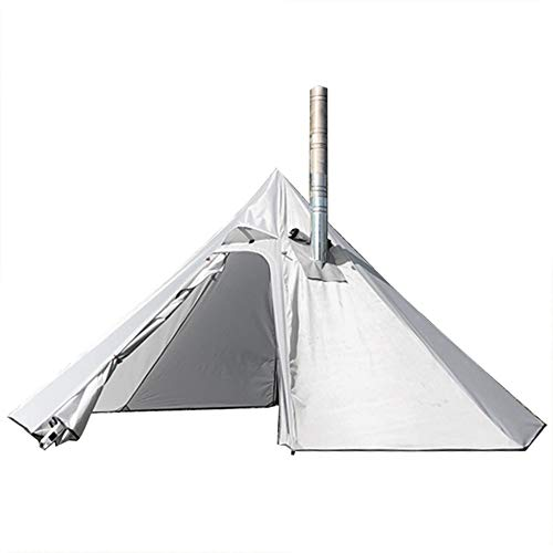 PRESELF 3 Person Lightweight Tipi Hot Tent with Fire Retardant Flue Pipes Window Teepee Tents for Family Team Outdoor...