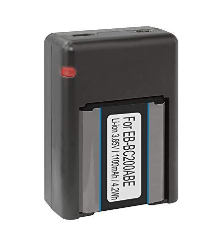 Akku + Dual-Ladegerät (USB) für Samsung EB-BC200ABE / Samsung Gear 360 (SM-C200) [3.85V - 1100mAh - Li-Ion]