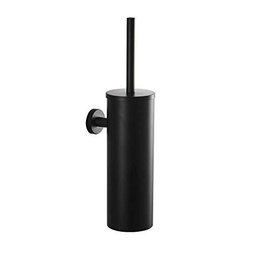 Escobilla de Baño Escobilla de baño montado en la pared Matt Negro Cuarto de baño WC titular de cepillo de oro inoxidable higiénico sistema de cepillo del sistema de cepillo del tocador Cepillo de Ino
