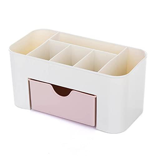 RWEAONT Pantalla de plástico de plástico de Escritorio Cuadrado Organizador de Escritorio Caja de Almacenamiento cosmético Soporte de lápiz Multifuncional con pequeño cajón contenedor (Color : D)