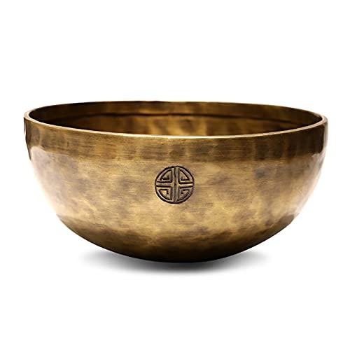 Singing Bowls Juego de Cuencos para Cantar del Tíbet con Luna Llena de Cobre Puro, Hermoso Cuenco para Cantar Budista Tibetano, Regalo Espiritual, 10-30 Cm, para Relajación, Yoga, Zen